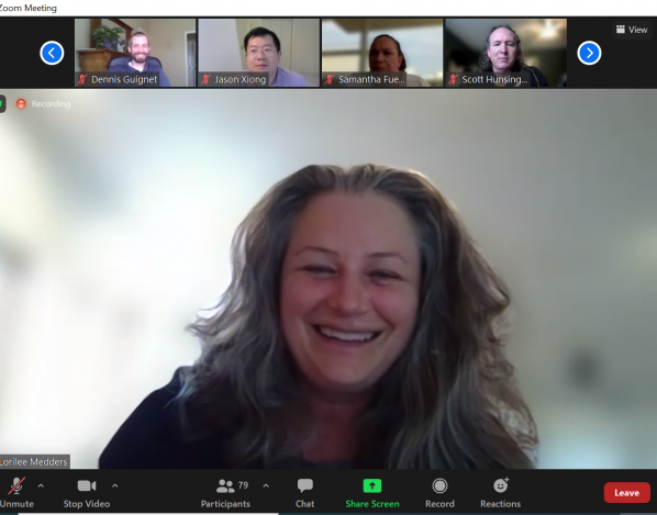 Dr. Lori Medders on Zoom call