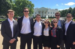 Group in front of the White House