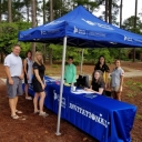Registration table at the Liberty Mutual Golf Tournament