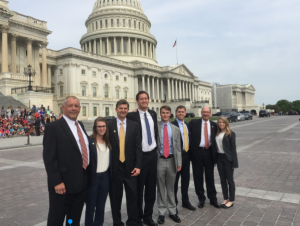 Group in Front of the Capitol Building in Washington, D.C.